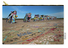 Carry-all Pouch featuring the photograph Cadillac Graffiti by Tim Stanley