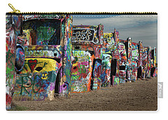 Carry-all Pouch featuring the photograph Cadillac Ranch by Tim Stanley