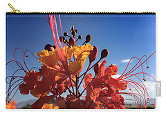 Carry-all Pouch featuring the photograph Caesalpinia Bird Of Paradise by Chris Tarpening