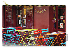 Cafe Color - Paris, France Carry-all Pouch by Melanie Alexandra Price