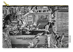 Cafe Lady Catherine Black And White Carry-all Pouch