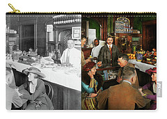 Carry-all Pouch featuring the photograph Cafe - Temptations 1915 - Side By Side by Mike Savad