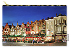 Cafes And Restaurants On Markt Square - Bruges Carry-all Pouch