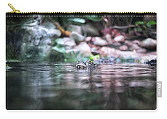 Carry-all Pouch featuring the photograph Caiman by Traven Milovich