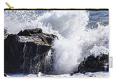 California Coast Wave Crash 6 Carry-all Pouch