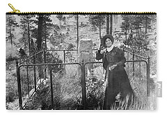 Carry-all Pouch featuring the photograph Calamity Jane At Wild Bill Hickok's Grave 1903 by Daniel Hagerman