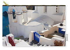 Caldera With Stairs And Church At Santorini Carry-all Pouch