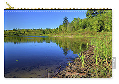 Carry-all Pouch featuring the photograph Caledon Kettle Lake by Gary Hall