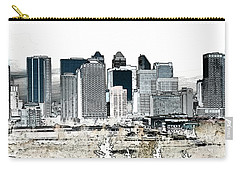 Carry-all Pouch featuring the digital art Calgary Skyline 1 by Stuart Turnbull