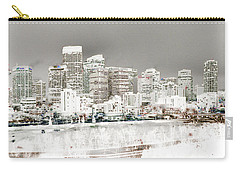 Carry-all Pouch featuring the digital art Calgary Skyline 3 by Stuart Turnbull