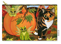 Calico's Mystical Pumpkin Carry-all Pouch