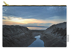 California Beach Stream At Sunset - Alt View Carry-all Pouch