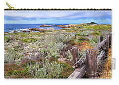 California Coastline Carry-all Pouch by Gina Savage