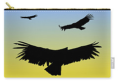 California Condors In Flight Silhouette At Sunrise Carry-all Pouch