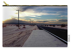 Carry-all Pouch featuring the photograph California Desert Highway by Christopher Woods