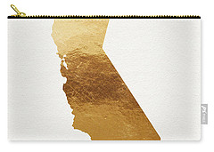 California Gold- Art By Linda Woods Carry-all Pouch by Linda Woods