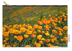 California Golden Poppies And Goldfields Carry-all Pouch by Glenn McCarthy