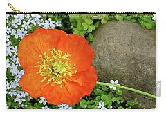 California Poppy Rock Garden Carry-all Pouch by Shirley Heyn