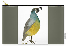 California Quail Posing Carry-all Pouch