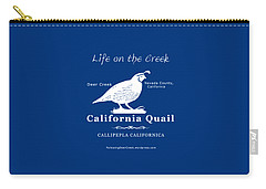 California Quail - White Graphics Carry-all Pouch