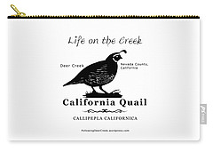 California Quail - White Carry-all Pouch