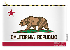 California Republic State Flag Authentic Version Carry-all Pouch