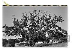 California Roadside Tree - Black And White Carry-all Pouch
