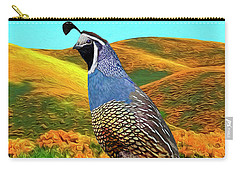 California State Bird And Flower Carry-all Pouch