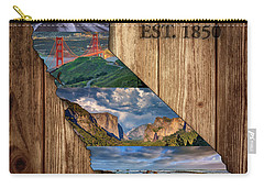 California State Map Collage Carry-all Pouch