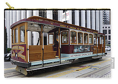 California Street Cable Car Carry-all Pouch by Steven Spak