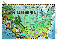 California Usa Carry-all Pouch