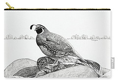 California Valley Quail Carry-all Pouch
