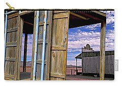 Carry-all Pouch featuring the mixed media Call Of The Lost Saloon 3  by Lynda Lehmann