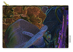 Carry-all Pouch featuring the digital art Calla Lily Abstract by Stuart Turnbull