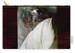 Carry-all Pouch featuring the photograph Calla Lily In A Bottle by Phyllis Denton