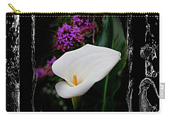 Carry-all Pouch featuring the photograph Calla Lily Splash by Al Bourassa