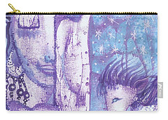 Carry-all Pouch featuring the mixed media Calling Upon The Spirit Animals by Prerna Poojara