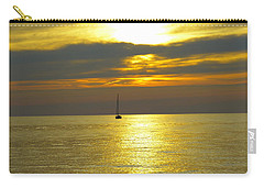 Carry-all Pouch featuring the photograph Calm Before Sunset Over Lake Erie by Donald C Morgan