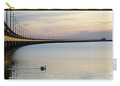 Calm Evening By The Bridge Carry-all Pouch