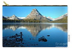 Carry-all Pouch featuring the photograph Calm Morning At 2 Medicine by Adam Jewell