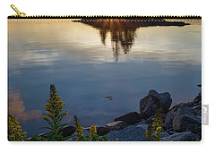 Carry-all Pouch featuring the photograph Calm Water At Sunset, Harpswell, Maine -99056-99058 by John Bald