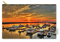 Carry-all Pouch featuring the photograph Calm Waters Bull River Marina Tybee Island Savannah Georgia by Reid Callaway