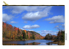 Calmness On Bald Mountain Pond Carry-all Pouch by David Patterson