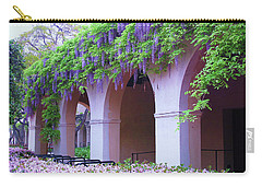 Carry-all Pouch featuring the photograph Caltech Wisteria by Ram Vasudev