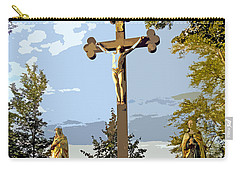 Carry-all Pouch featuring the photograph Calvary Group - Parkstein by Juergen Weiss