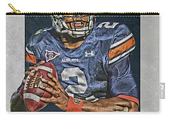 Cam Newton Auburn Tigers Art Carry-all Pouch