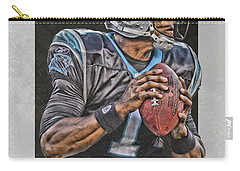 Cam Newton Carolina Panthers Art Carry-all Pouch