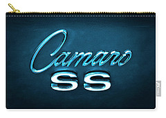 Carry-all Pouch featuring the photograph Camaro S S Emblem by Mike McGlothlen