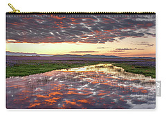 Camas Spring Sunrise Carry-all Pouch by Leland D Howard