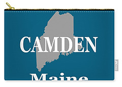 Carry-all Pouch featuring the photograph Camden Maine State City And Town Pride  by Keith Webber Jr